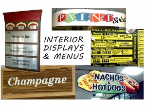 Interior Displays and Menus